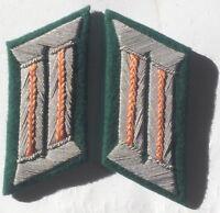 WW2 GERMAN ARMY OFFICER COLLAR TABS FELDGENDARMERIE ORANGE