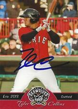 Tyler Collins Detroit Tigers 2013 Erie Seawolves Signed Card
