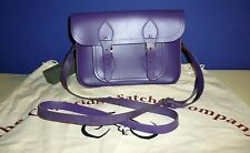 The Cambridge  Satchel  Company purple leather bag. Made in UK.