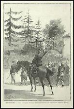 GRAVURE DOMREMY LA PUCELLE   MILITAIRE MILITARIA 1895
