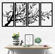 Tree of Life 4 Panels, Metal Tree Wall Art, Tree Sign, Metal Wall Decor, 5321