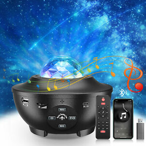 LED Galaxy Star Projector Night Light with Bluetooth Speaker & Remote Controller