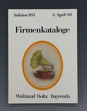Auktionskatalog Boltz FIRMENKATALOGE April 1986