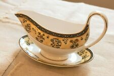Wedgwood India Bone China Gravy Boat and Underplate