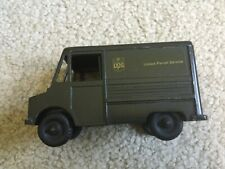 TOY UPS DELIVERY TRUCK PRESSED METAL COIN BANK