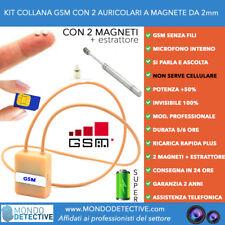 micro auricolare collana gsm esami invisibile audio sim 3g magneti 2 bluetooth