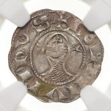 CRUSADERS, Antioch. Bohemond III, 1163-1201, Silver Denier, NGC XF Details