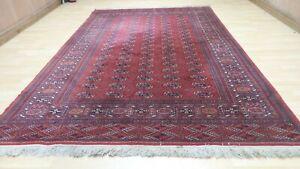 """Large PERSAIN design CARPET RUG Oriental Wool Bokhara 9FT 9"""" x 6FT 7"""""""