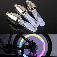 1PC Bicycle Light Tyre Valve Caps Wheel Spokes LED Light Bike Accessories  @M
