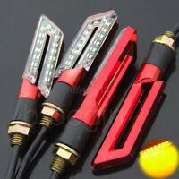 4x 16 LED Rouge Universal  Moto signal indicateur Clignotant Feux Jaune Lumière