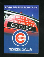 Chicago Cubs--2014 Pocket Schedule--WGN/Budweiser