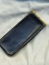 More details for antique victorian black leather and brass cigar case holder wallet