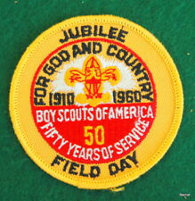 VINTAGE  BOY SCOUT - 1960 50th JUBILEE - FIELD DAY