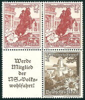 DR Nazi 3d Reich RARE WW2 STAMP Hitler Castle Nothilfe Austria Flower Winter Aid