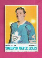 1970-71 OPC  # 107 LEAFS MIKE PELYK ROOKIE EX-MT CONDITION CARD (INV# C9612)