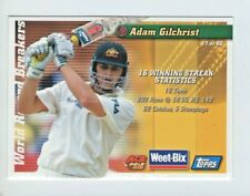WEET-BIX WORLD RECORD BREAKERS CARD ADAM GILCHRIST