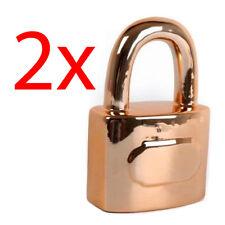 Set di 2 a forma di lucchetto MONEY BOX SALVADANAIO MONETE RISPARMI 17 CM al sicuro i fondi nuovi