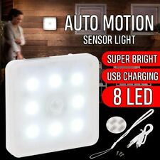 8LED PIR Motion Sensor Wireless Night Light Under Cabinet Kitchen Cupboard Lamp