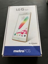 Lg G Stylo Ms631 White (MetroPcs) Smartphone Box and Start Guide only No phone!
