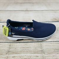 Skechers Womens Go Walk 5 Blue Slip On Walking Shoes Size 9.5 124007 NWOB
