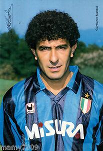 FOTO INTER=FOTOCOLOR GIANFRANCO MATTEOLI=1989/90=CM 24X16,5=AUTOGRAFO STAMPATO