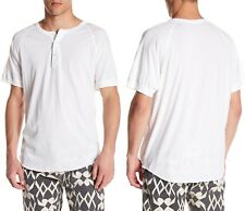 S.K.U. SAVE KHAKI Soft Lightweight S/S Jersey Henley in White Sz.Medium NWT $75