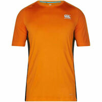 Canterbury Mens Core VapoDri Superlight Poly Small Logo Quick Dry T-Shirt Orange