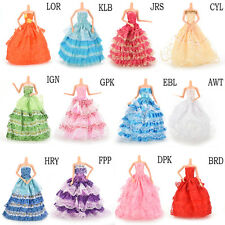 Gown Party Dresses Fashion Wedding Dress Clothes Accessories for Barbie doll SD