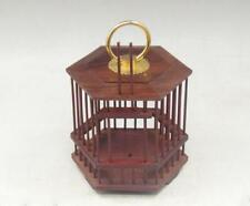 Old Collectibles chinese Handwork Carving 100% hardwood mahogany Cricket Cage