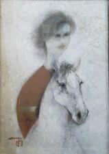 Naondo NAKAMURA (1905-1981) gouache sur carton l'Ecuyère