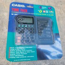 Casio Time Face Qa-100 Handheld Calculator Analog Clock Alarm