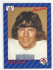 DIETER BROCK 1991 AW CFL Football card #6 Winnipeg Blue Bombers NR MT