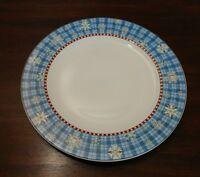 Sakura Snowflake Debbie Mumm Dinner Plate Christmas Plaid