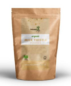 Organic Milk Thistle Seed Powder - Liver Detox | Natural Silybum Marianum | Herb