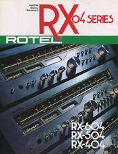 Rotel RX-604, RX-504, RX-404 Original Stereo Receiver Brochure