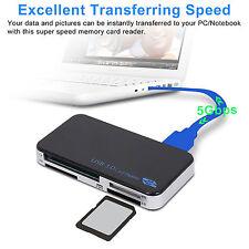 All-In-1 USB 3.0 Lettore di schede Compact Flash Multi Adattatore Micro SD SD XD CF M2 MS