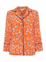 WHISTLES Ladies Flame Orange Digital Daisy Pyjama Shirt Size XS BNWT RRP99