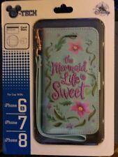 Disney  D-tech Little Mermaid iPhone  8/7/6s card Slots & Case NEW