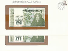 Banknotes of All Nations Ireland 1982 1 pound P 70c Unc 2 Consecutive Notes