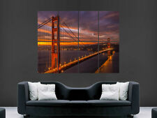 SAN FRANCISCO GOLDEN GATE BRIDGE USA ART HUGE LARGE  GIANT POSTER PRINT