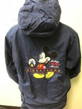 DISNEYLAND VTG Womens Small Disney Blue Embroidered Mickey Mouse Lined Jacket