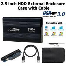 USB 3.0 SATA Hard Drive Enclosure HDD Case Laptop PC 2.5inch External Case Black