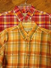 Tequila Sunrise Men's Plaid Shirts Lot Of 2 Size XL Great Fall Colors