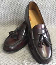 ba805489fd8 Cole Haan Pinch Tassel Moc Toe Burgundy Leather Loafers Size 7.5 Mens