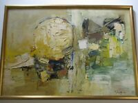 FINEST JOHN CHIN YOUNG OIL PAINTING LARGE ABSTRACT EXPRESSIONIST CHINA HAWAII