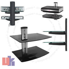 New 2 Tier Glass Shelves TV Wall Mount Bracket for DVD Sky Box Game Consoles