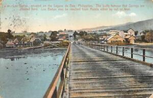 LOS BANOS LAGUNA DE BAY PHILIPPINE ISLANDS POSTCARD 1910