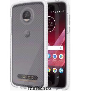 Moto Z Play Tech21 Evo Check Case for Motorola Moto Z2 Play Clear White