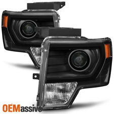 [Halogen Upgrade] 2009-2014 Ford F150 F-150 Pickup Black Projector Headlights