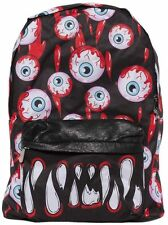 Iron Fist Blood Shot Black Backpack - (Eyeball,Goth,Punk)